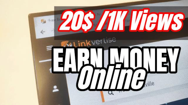 LINKVERTISE- Earn Money Online From Home Instantly